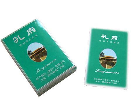 孔府酒广告扑克
