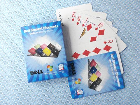 戴尔电脑广告扑克